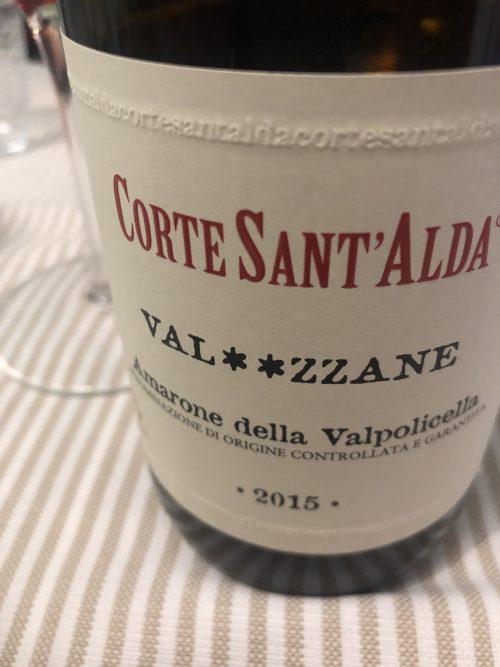 Amarone Valpolicella Val**zzane 2015 Corte Sant'Alda anteprima che incanta